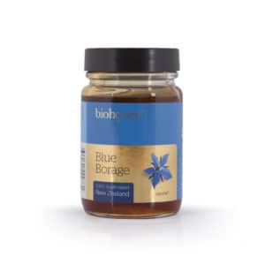 Blue Borage Honey Glass