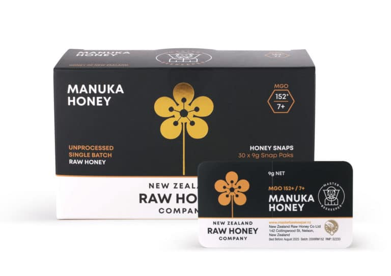 NZRH SnapPack Manuka 9g Box And Sachet HR